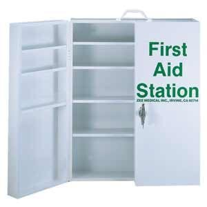 ZEE Medical Five Shelf First Aid Kit w/Lock