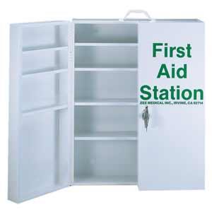 ZEE Medical Five Shelf First Aid Kit w/Lock