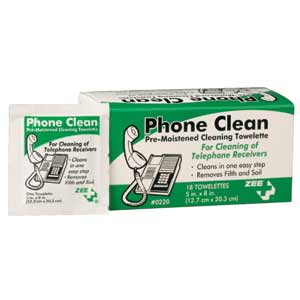 ZEE Medical Phone Wipes 18 BX