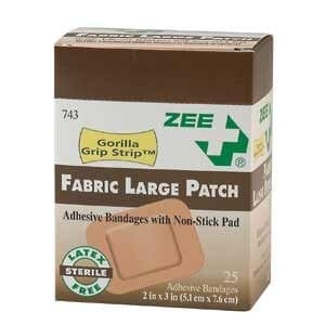 ZEE Medical Large Patch Bandages 25/BX