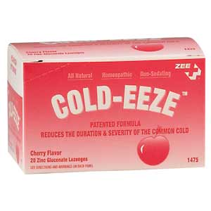 ZEE Medical Cold-Eeze Cherry 20/BOX
