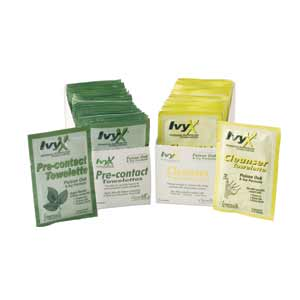 Ivy-X Cleanser Towelettes 25/BX