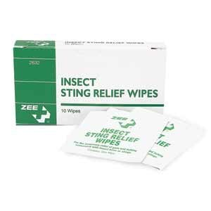 ZEE Medical Insect Sting Relief Wipes 10 /BX