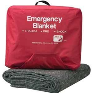 ZEE Medical Emergency Blanket W/Case 70% Wool
