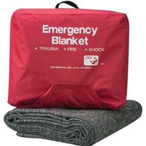 ZEE Medical Emergency Blanket W/Case 70% Wool