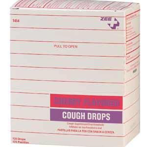 ZEE Medical Cough Drops, Cherry 50/BX