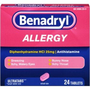 Benadryl Caplets 24/BOX