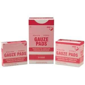 "ZEE Medical Sterile Gauze Pads 2"" x 2"" 25/BX"