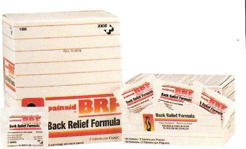 ZEE Medical Painaid Back Relief Formula 50PK OF 2