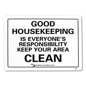 "ZEE Medical Good Housekeeping, 10"" x 14"
