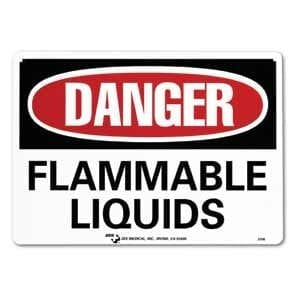 "ZEE Medical Danger Flammable Liquid, 10"" X 14"""