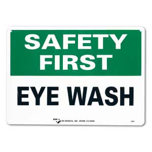 "ZEE Medical Safety First Eye Wash, 10"" x 14"""