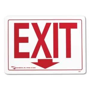 "ZEE Medical Exit Sign, 10"" x 14"