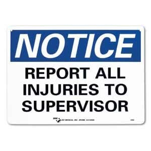 """ZEE Medical Report All Injuries, 10"""" x 14"""""""