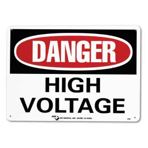 "ZEE Medical High Voltage, 10"" x 14"""
