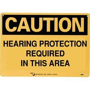 "ZEE Medical Hearing Protection Required, 10"" x 14"""
