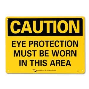 "ZEE Medical Eye Protection Must Be Worn, 10""x 14"""