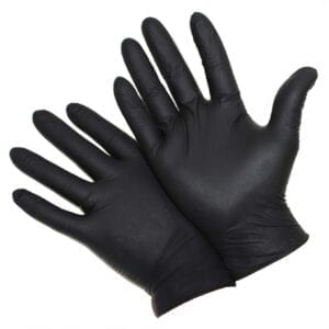 5 Mil Industrial Grade Powder Free Black Nitrile Gloves
