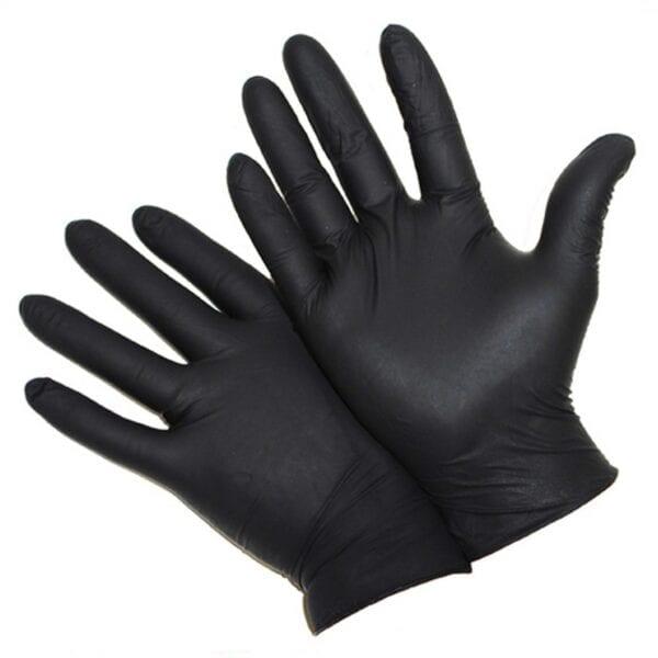5 Mil Industrial Grade Powder Free Black Nitrile Gloves