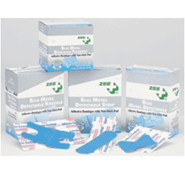 Blue Metal Detectable Bandages - ZEE Medical